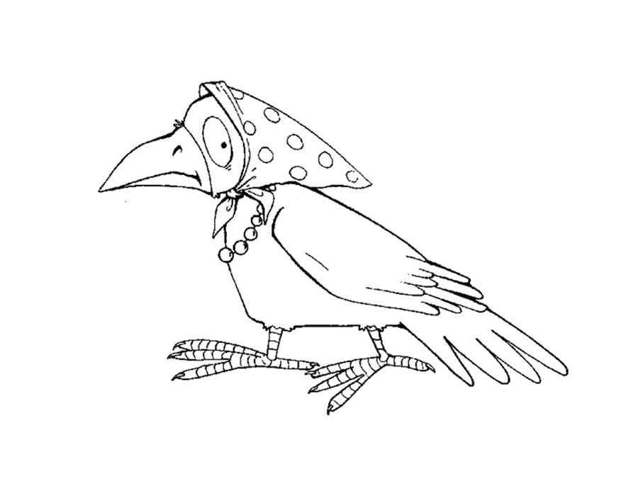 Картинки раскраска для детей Ворона (25)