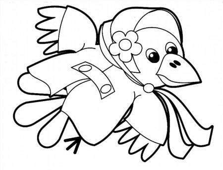 Картинки раскраска для детей Ворона (6)