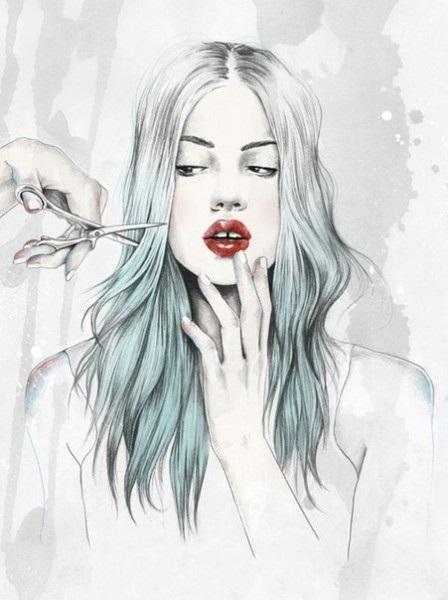 Картинки рисованные девушек брюнеток (16)