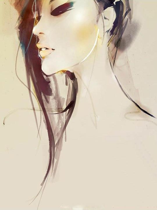 Картинки рисованные девушек брюнеток (20)