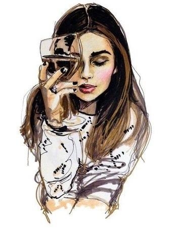 Картинки рисованные девушек брюнеток (21)