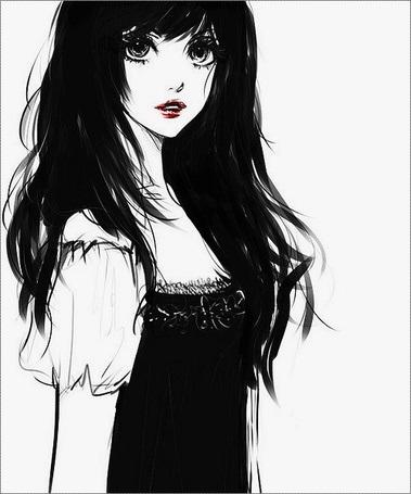 Картинки рисованные девушек брюнеток (23)