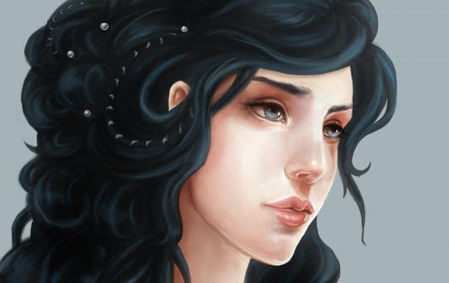 Картинки рисованные девушек брюнеток (24)