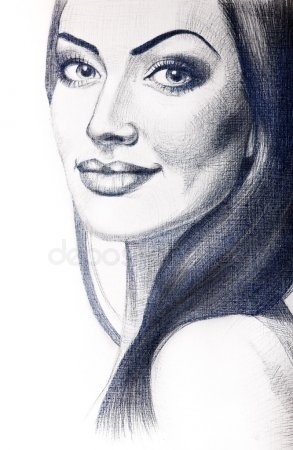 Картинки рисованные девушек брюнеток (27)