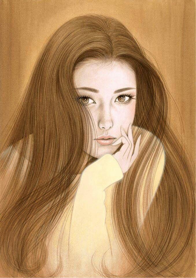 Картинки рисованные девушек брюнеток (28)