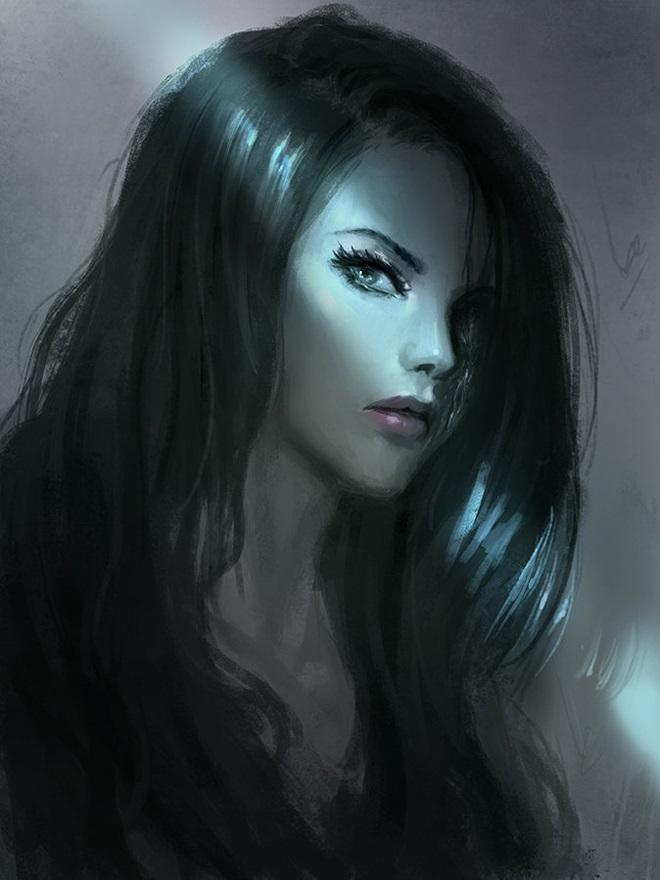 Картинки рисованные девушек брюнеток (3)
