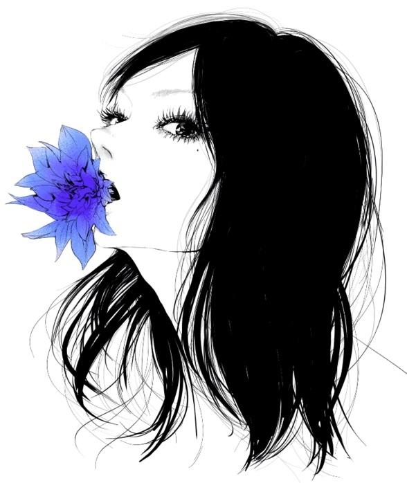 Картинки рисованные девушек брюнеток (4)