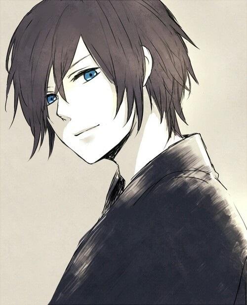 Красивый парень с голубыми волосами арты   подборка (15)