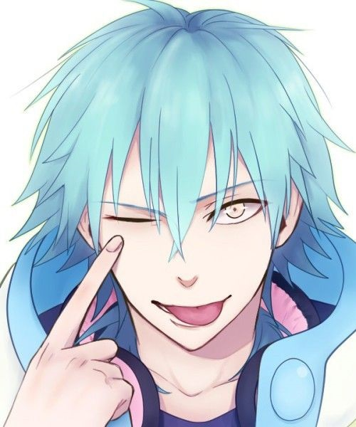 Красивый парень с голубыми волосами арты   подборка (17)