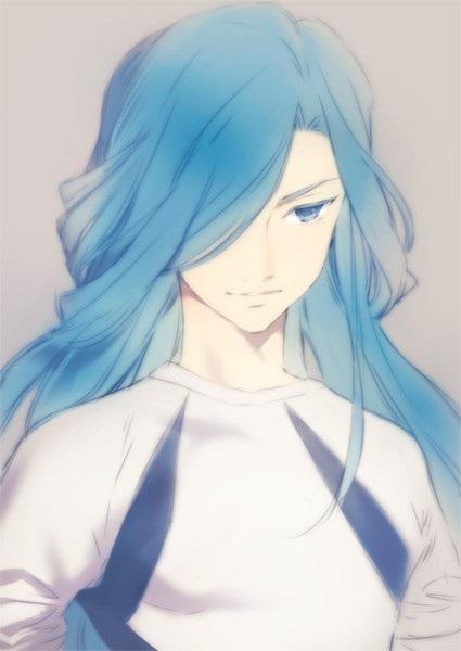 Красивый парень с голубыми волосами арты   подборка (2)