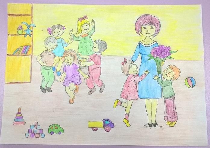 Мой любимый воспитатель, рисунки на эту тему (14)
