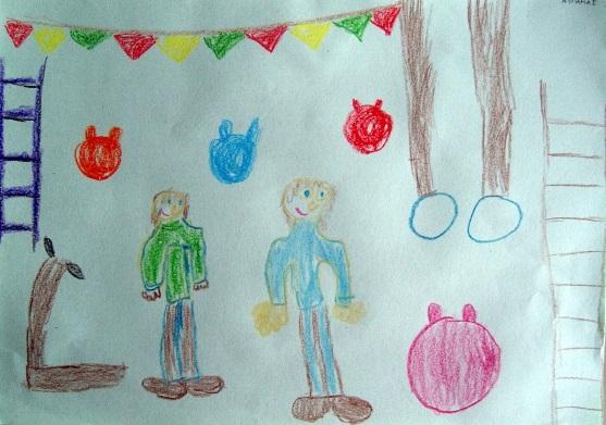 Рисование наш любимый детский сад (11)