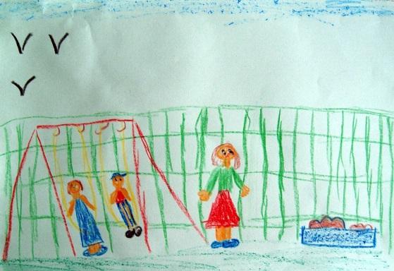 Рисование наш любимый детский сад (12)