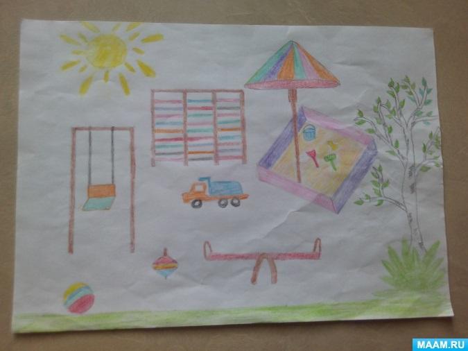 Рисование наш любимый детский сад (15)