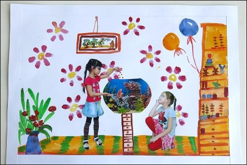 Рисование наш любимый детский сад (16)