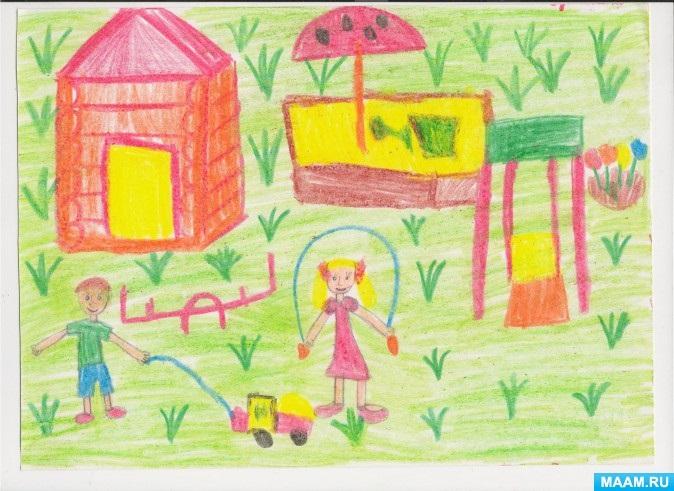 Рисование наш любимый детский сад (23)