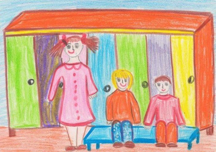Рисование наш любимый детский сад (5)