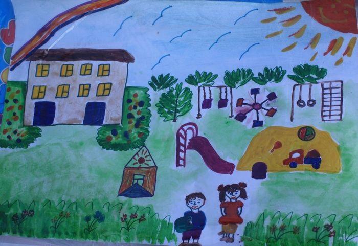 Рисование наш любимый детский сад (7)