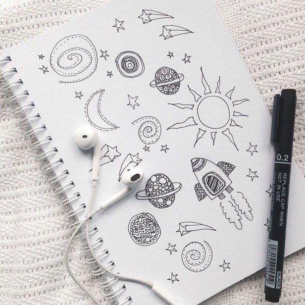 Топовые картинки для ЛД черной ручкой (10)