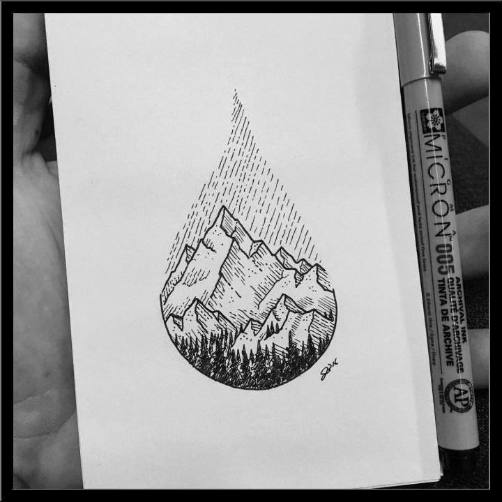 Топовые картинки для ЛД черной ручкой (15)