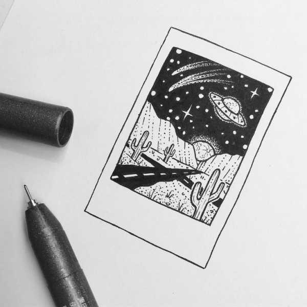 Топовые картинки для ЛД черной ручкой (25)