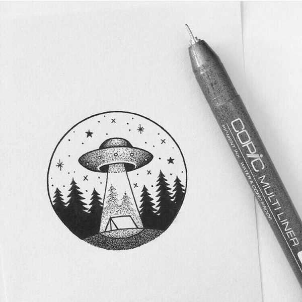 Топовые картинки для ЛД черной ручкой (26)