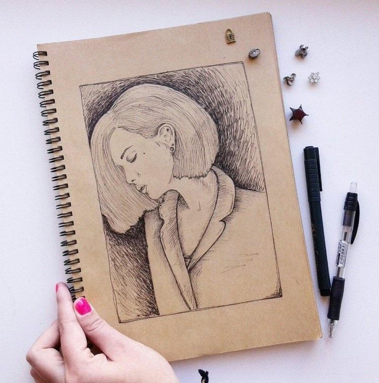 Топовые картинки для ЛД черной ручкой (6)