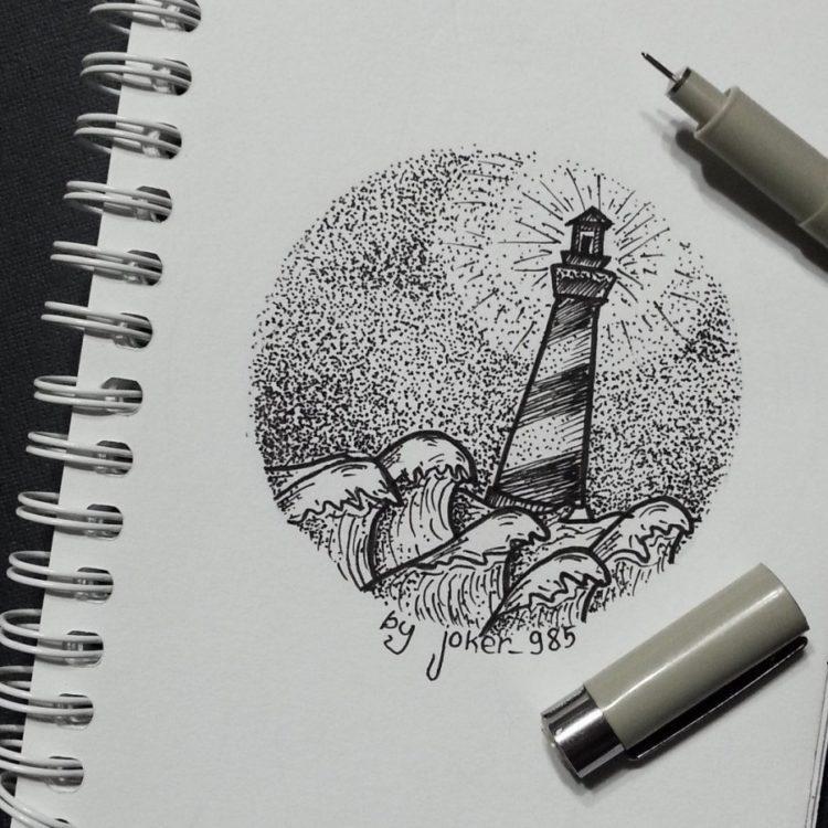 Топовые картинки для ЛД черной ручкой (7)