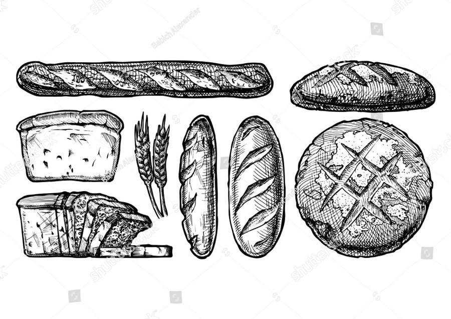 Картинки хлеб для детей нарисованные (15)