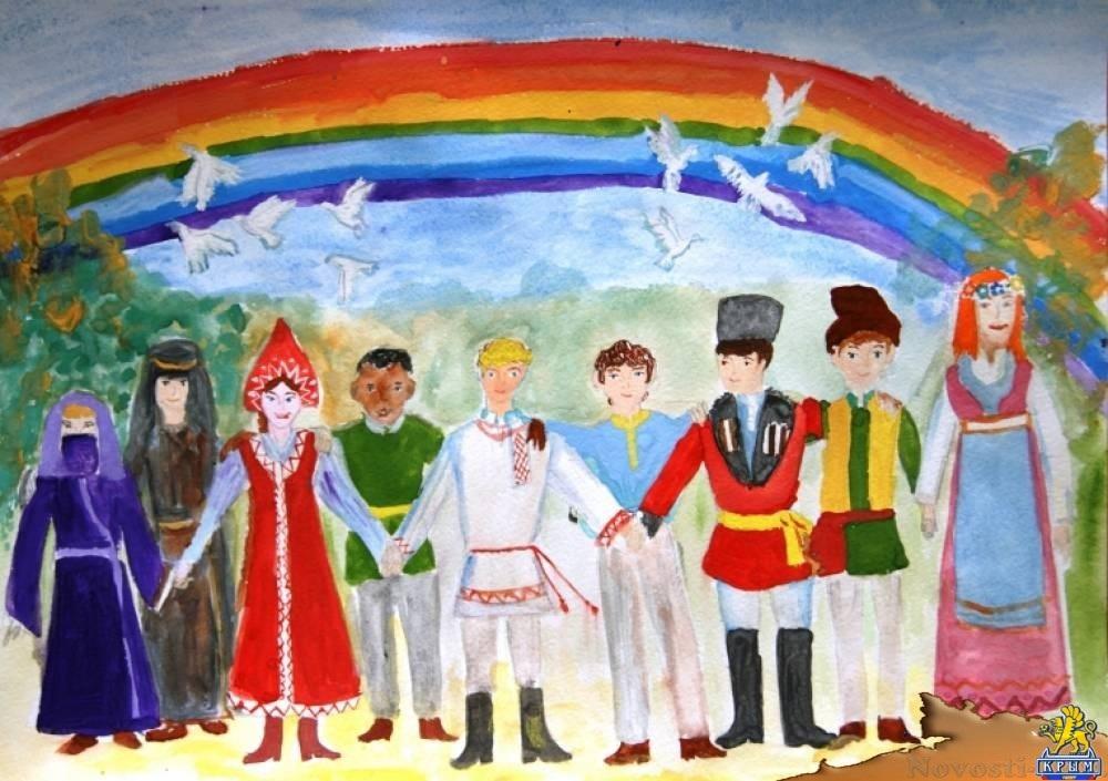Идеи в картинках для детей дружба народов (2)
