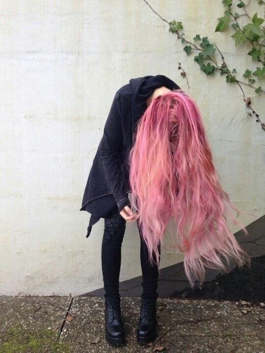 Самые милые картинки девушки с розовыми волосами (12)