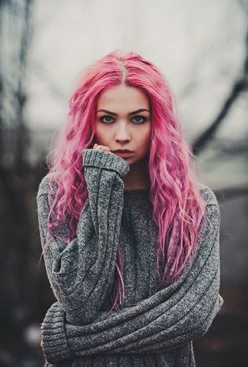 Самые милые картинки девушки с розовыми волосами (14)