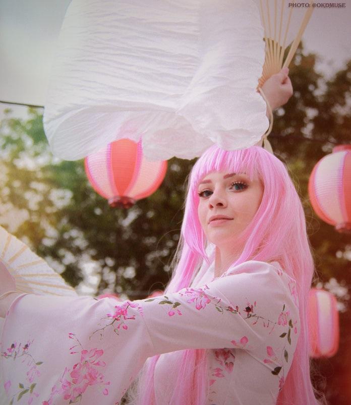 Самые милые картинки девушки с розовыми волосами (16)