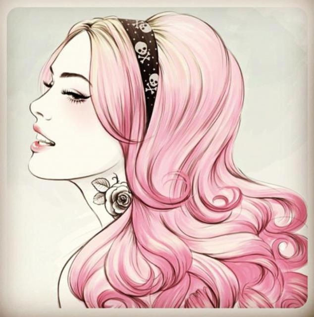 Самые милые картинки девушки с розовыми волосами (18)