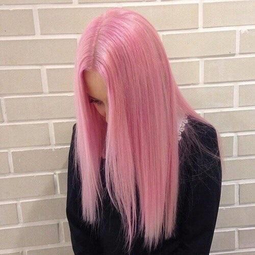 Самые милые картинки девушки с розовыми волосами (20)