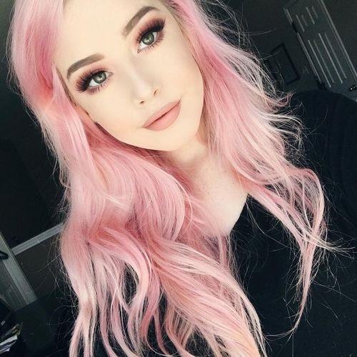 Самые милые картинки девушки с розовыми волосами (21)