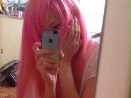 Самые милые картинки девушки с розовыми волосами (24)