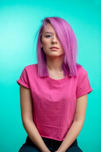 Самые милые картинки девушки с розовыми волосами (30)
