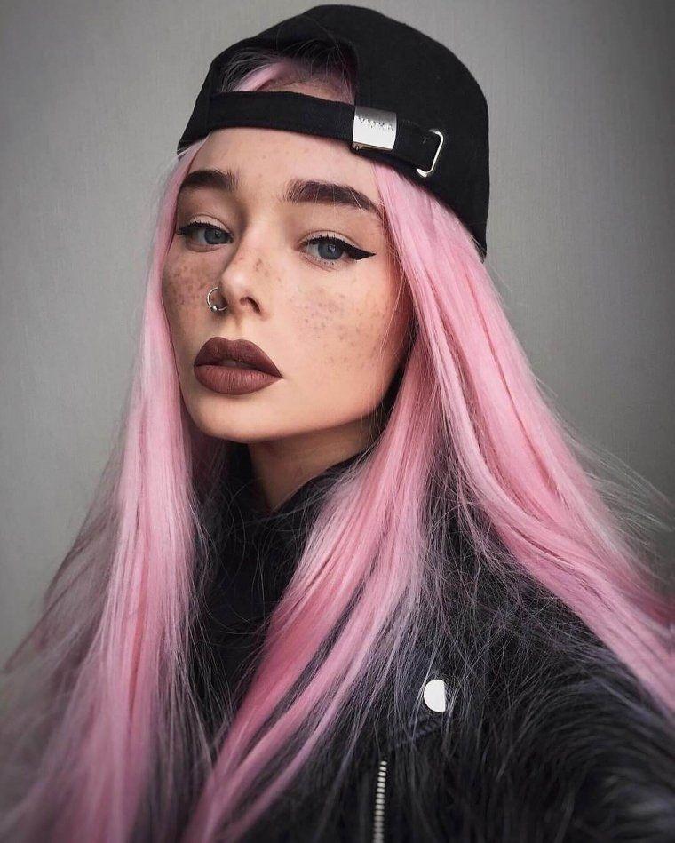 Самые милые картинки девушки с розовыми волосами (5)