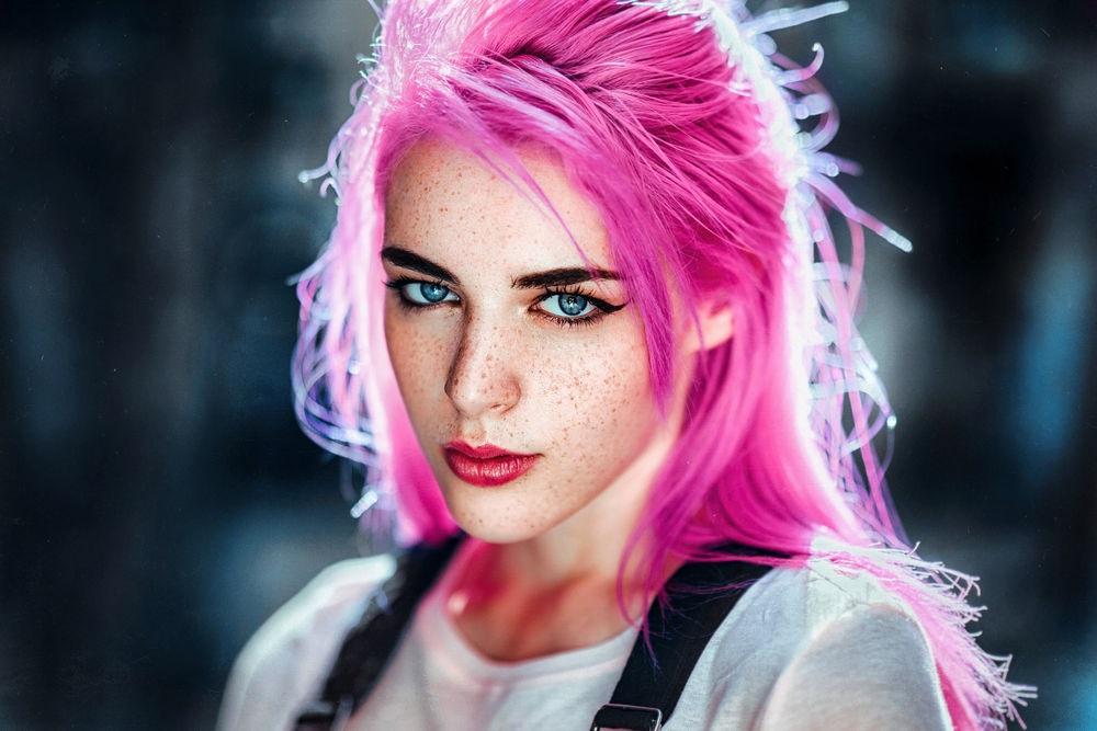 Самые милые картинки девушки с розовыми волосами (7)